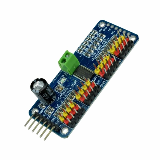 16-Channel 12-bit PWM/Servo Driver Module – I2C Interface – PCA9685