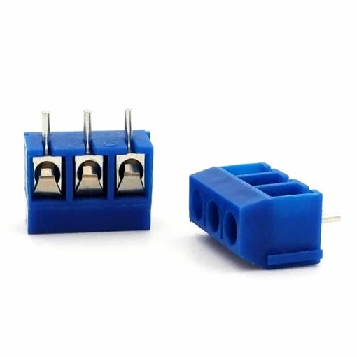 3 Pin 5mm Blue Terminal Block Screw Connector – Pack of 10