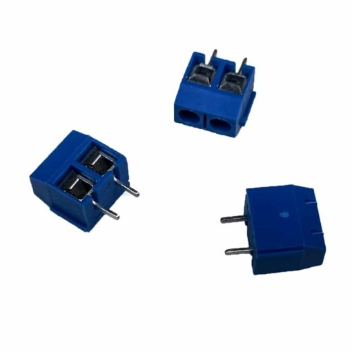 2 Pin 5mm Blue Terminal Block Screw Connector – Pack of 10