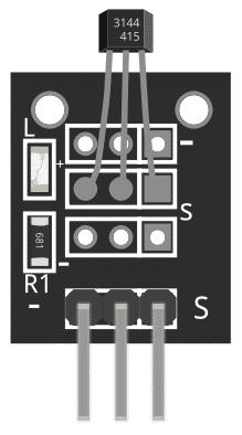 Figure 1: KY-003 Magnetic Hall Sensor