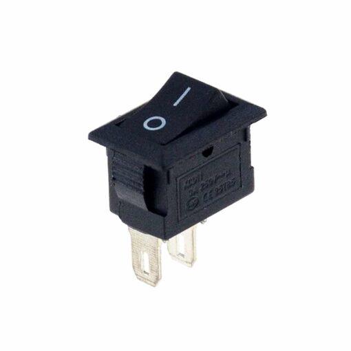 PHI1052300 – 2 Pin SPST KCD11 Black Rocker Switch – Pack of 5 02