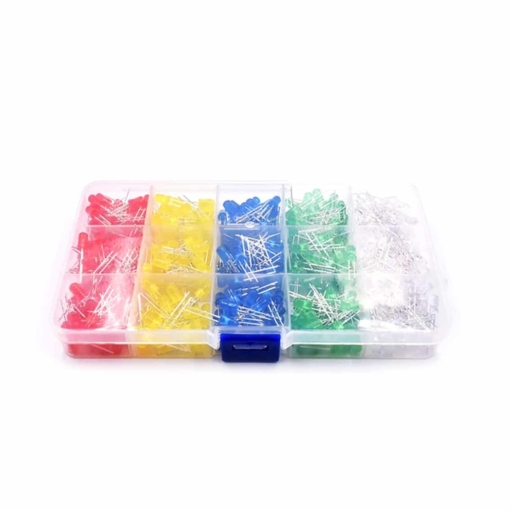 PHI1052182 – 500 Piece 5MM LED Diode Globe Kit with Case – 5 Colours 02