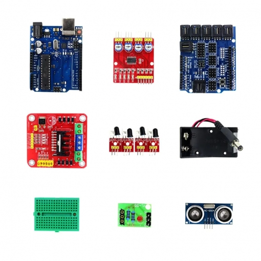PHI1012437 – Obstacle Avoiding Bluetooth Controlled DIY 4WD Robot Kit 02