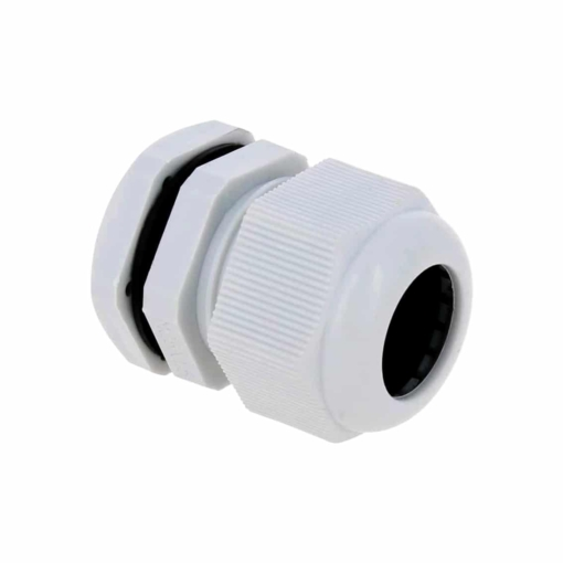 PHI1062677 – M25 Waterproof White Nylon Cable Gland – Pack of 5 02