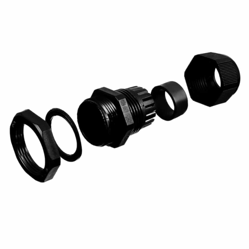 PHI1062686 – M20 Waterproof Black Nylon Cable Gland – Pack of 5 01 03