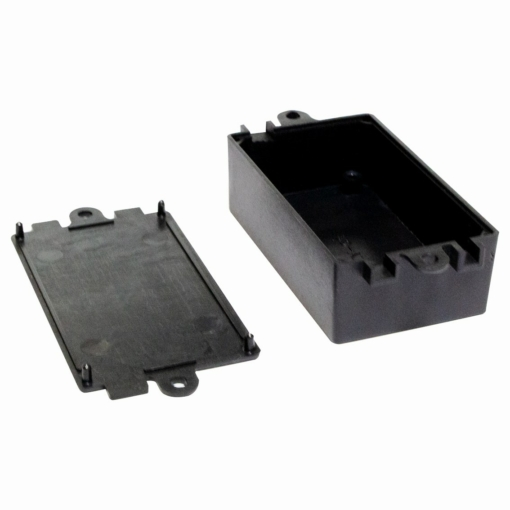 PHI1062858 – Black ABS Electronics Flange Mount Enclosure Box – 80 x 38 x 22mm – 02