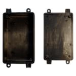 PHI1062869 – Black ABS Electronics Flange Mount Enclosure Box – 115 x 62 x 35mm – Pack03