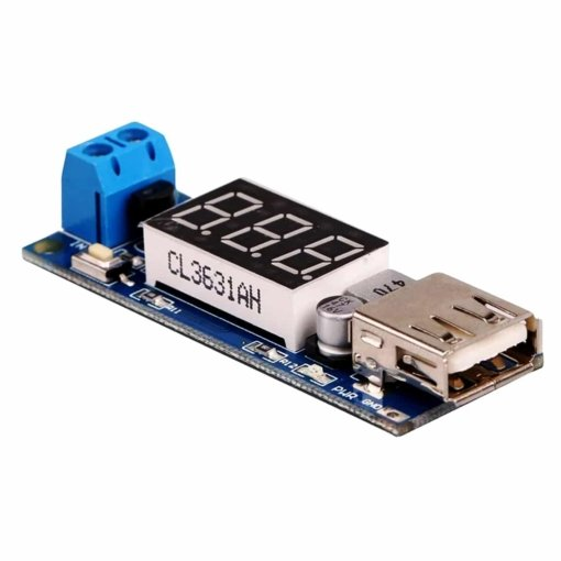 PHI1072602 – DC-DC Step Down Buck Converter to 5V USB Module – With Voltmeter 02