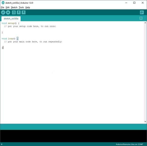 Arduino IDE Main Console